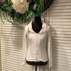 Long sleeve zip up shirt/jacket